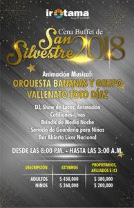 Cena San Silvestre Fin 2018